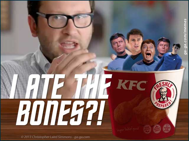 Simmons MEME: I Ate the Bones?